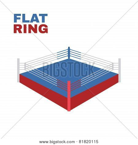 Boxing Ring Isolated on white. Vector