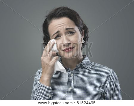 1950S Desperate Woman Crying