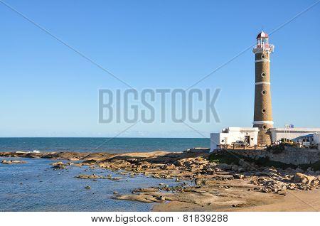 Lighthouse At San Ignacio Beach Uruguay. Traveling South America.