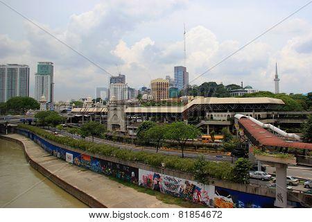 Pasar Seni Lrt Station In Kuala Lumper, Malaysia