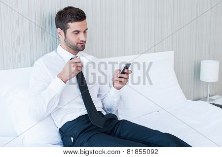 Typing Business Message.