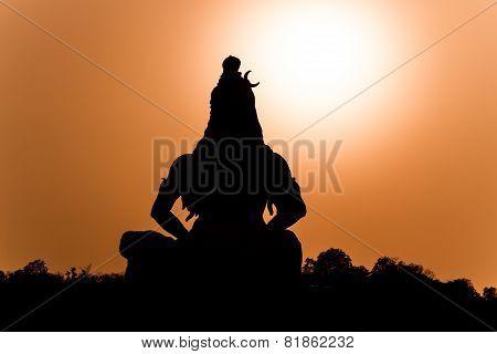A silhouette of Shiva