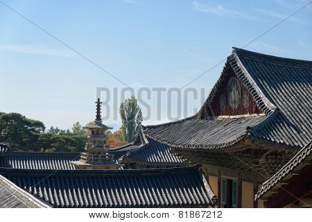 Gyeongju, Korea - October 19, 2014: View Of Bulguksa