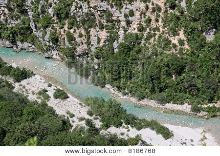 Verdon gorge near Aiguines in Provence France poster