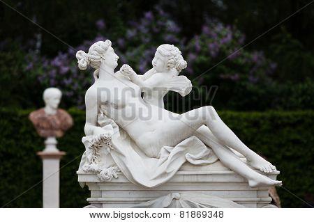 Statue In A Park Of Sans Souci