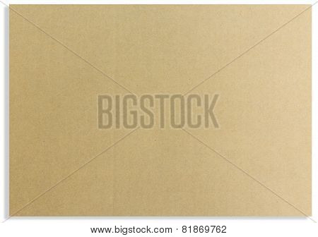 Brown paper card board isolated background .