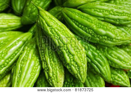 Bitter melon on Asian market
