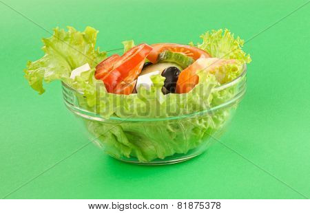 Picture Of A Plate With Fresh Greek Salad