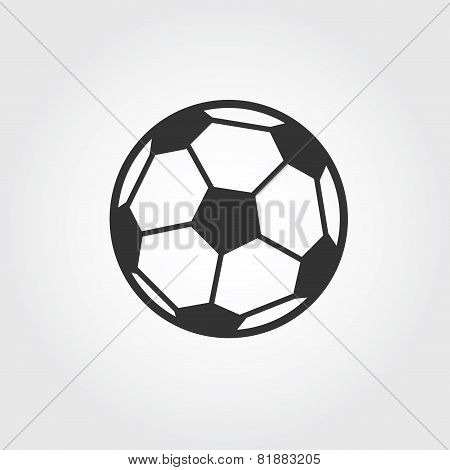 football ball (soccer) icon, flat design