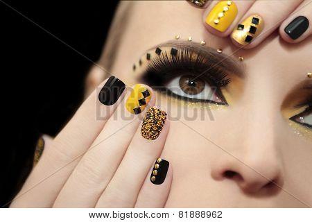Caviar manicure.