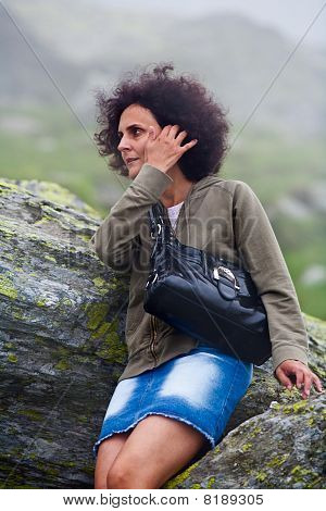 Woman Outdoor, Resting