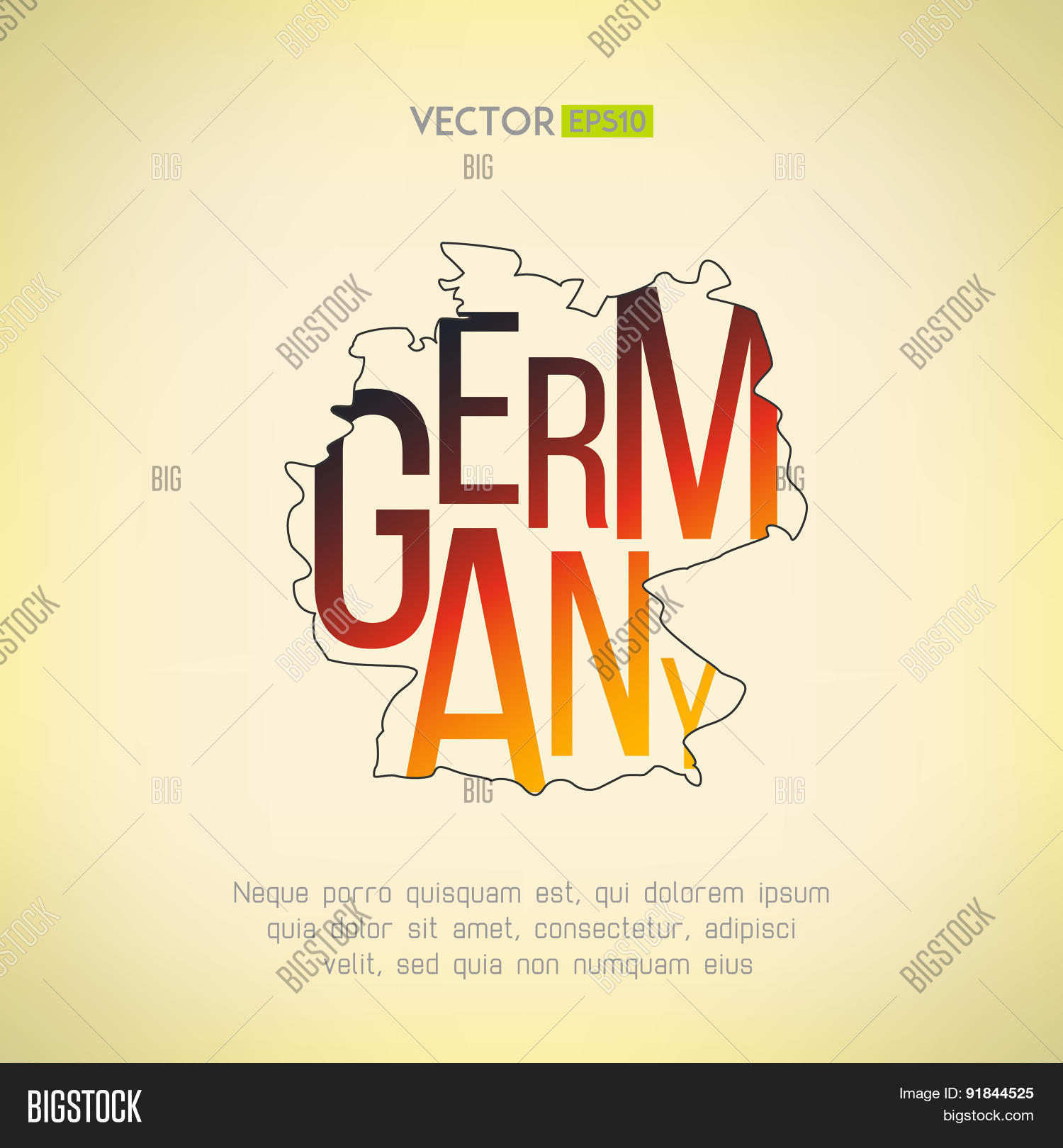 Vector Germany Map Vector & Photo (Free Trial) | Bigstock