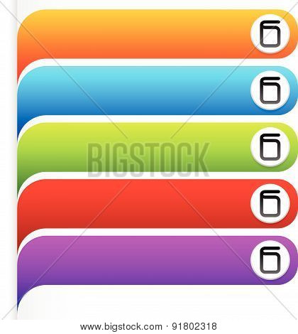 Set Of Bright, Colorful Oblong Design Elements. Vector Graphics.