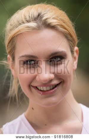 Portrait of a cute happy girl