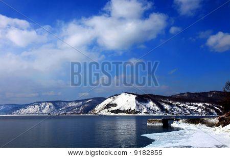 Lake Baikal. Spring.