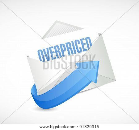 Overpriced Letter Sign Concept Illustration