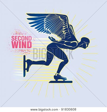 Speed Ice Skating. Vector illustration created in topic