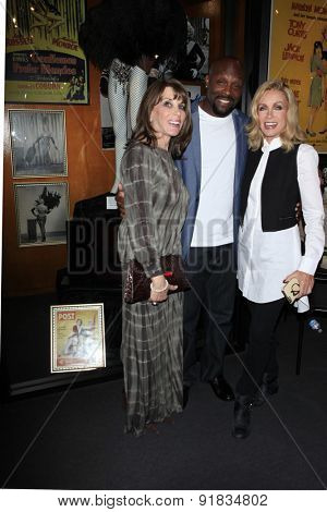 LOS ANGELES - MAY 27:  Kate Linder, Jerome Ro Brooks, Donna Mills at the Missing Marilyn Monroe Images Unveiled at the Hollywood Museum on May 27, 2015 in Los Angeles, CA