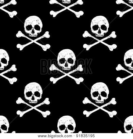 Skull And Crossbones Seamless Background