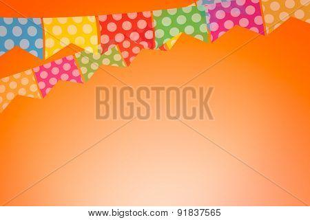 Colored bunting for June Brazilian Festival