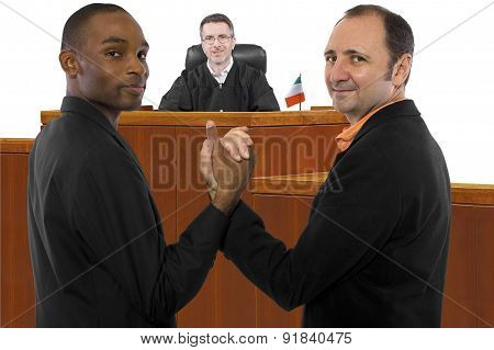 Judge and Gay Couple at Court in Ireland