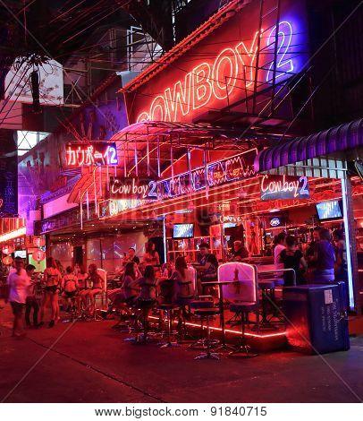 Red light district Bangkok Thailand