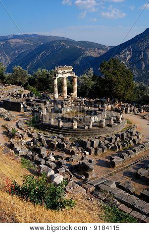 Athena Pronaia Sanctuary At Delphi, Greeece