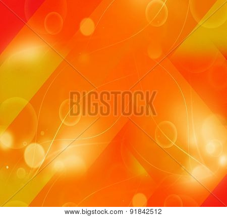 Orange curve wave background