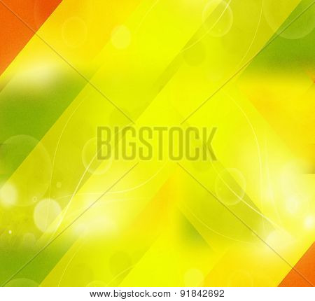 Yellow curve wave background