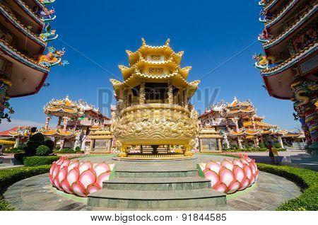 Naja Statue Of Chinese Shrine Temple, Chonburi, Thailand