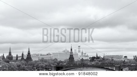 the Moscow Kremlin and the waterfront. Moscow. Russia poster