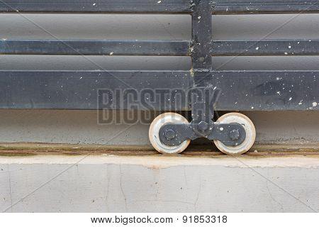 Slide Door With Wheel Bearing