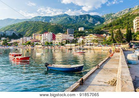 Landscape View On Embankment In Montenegro