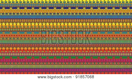 Stripes seamless pattern of egypt elements.
