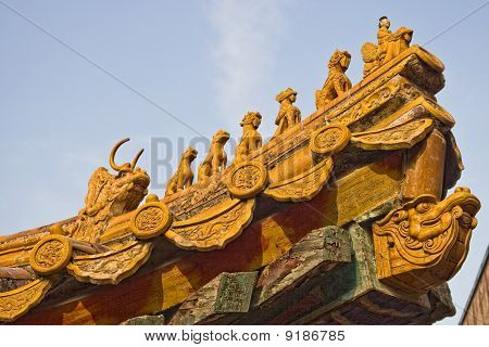 Roof Panels With Small Mystical Figures