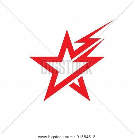 Star and lighting - vector logo concept illustration.