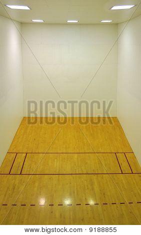 Empty Basketball Court Interior