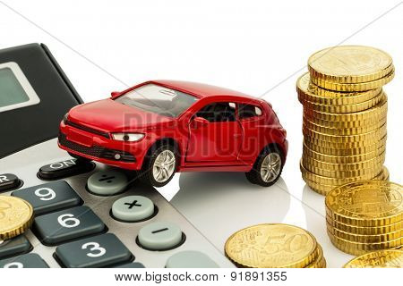 auto and calculator. rising costs for car purchase, lease, service, refueling and insurance