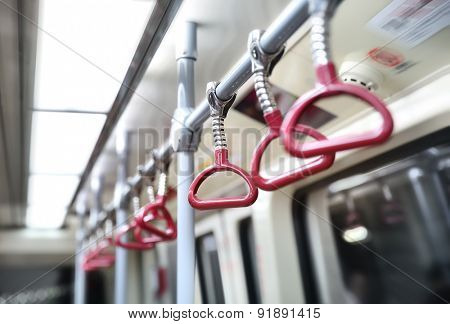 subway handrail