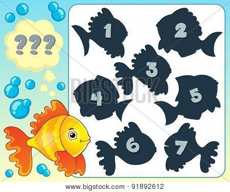 Fish riddle theme image 4 - eps10 vector illustration.