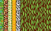 Seamless, Tileable Jungle or Zoo Animal Themed Background Patterns poster