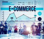 E-commerce Online Technology Marketing Business Concept poster
