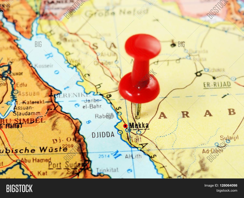 Mecca,saudi Arabia Map Image & Photo (Free Trial) | Bigstock