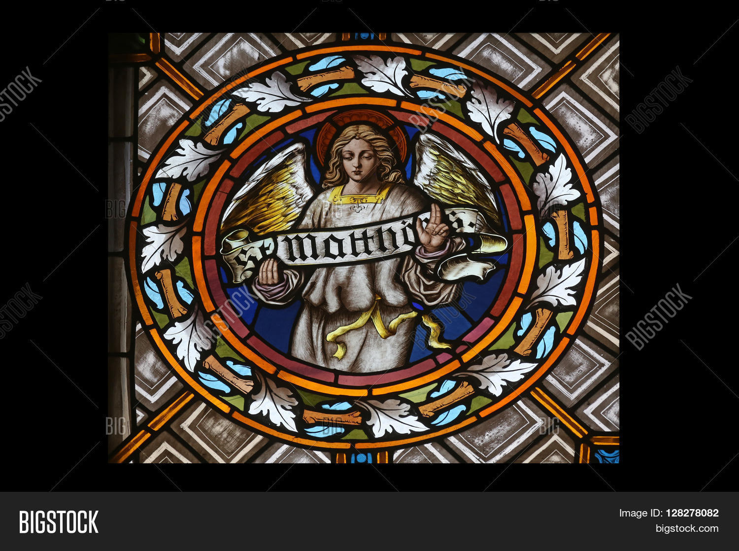 Oberstaufen germany october 20 image photo bigstock oberstaufen germany october 20 symbols of the saint matthew the evangelist stained biocorpaavc Choice Image