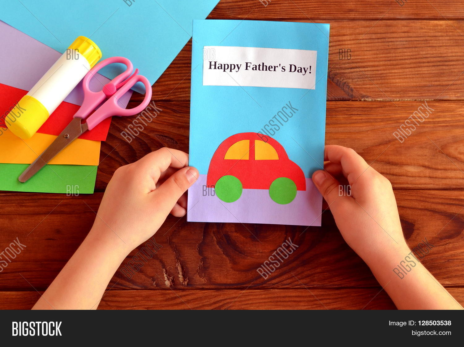 Child Holds Card His Image Photo Free Trial Bigstock