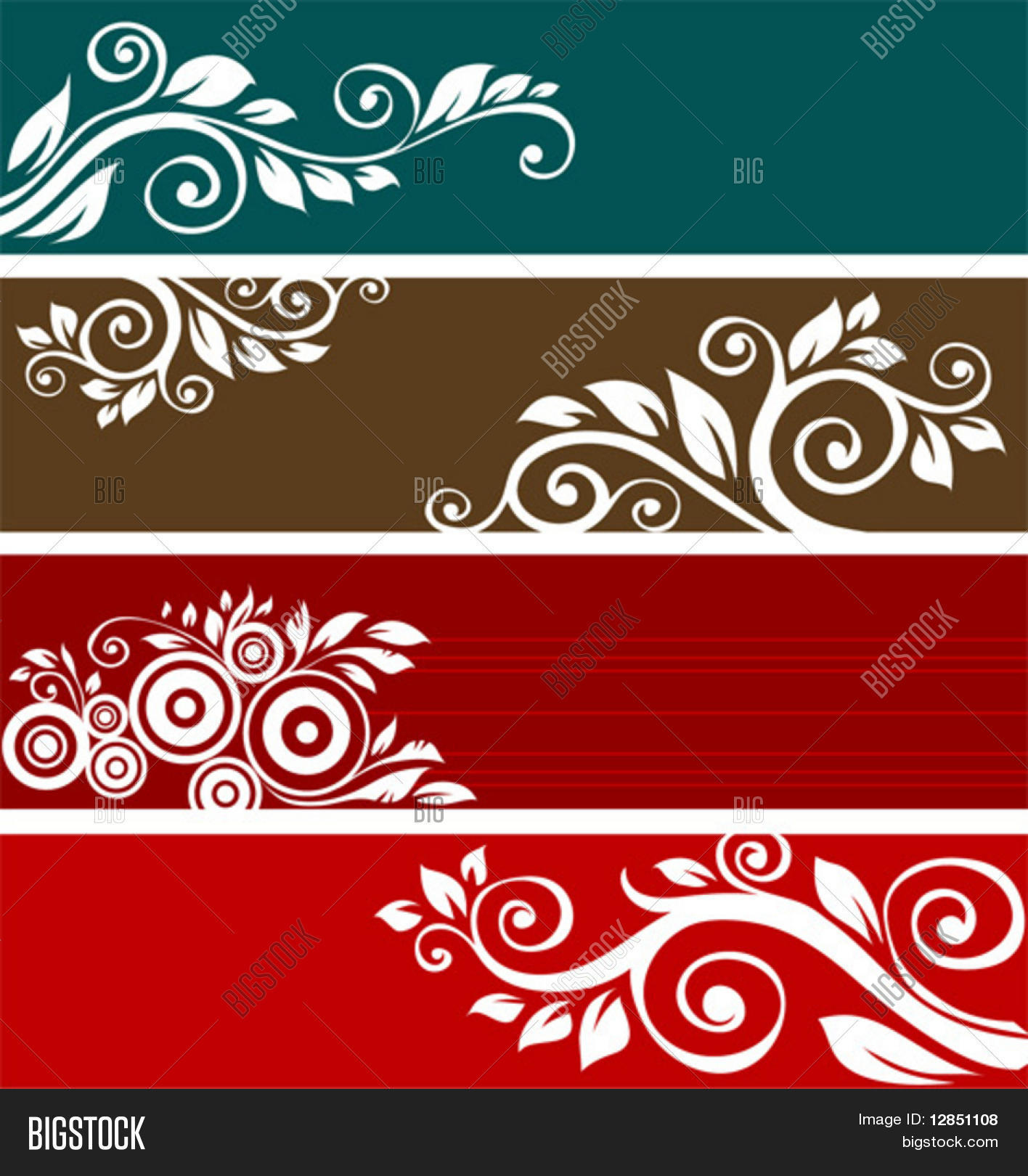 abstract floral vector photo free trial bigstock