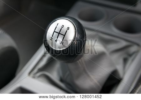 Car interior. manual transmission gear shift. interior, car, stick,