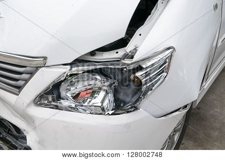 Car accident vehicle destroyed, transportation, vehicle, headlight