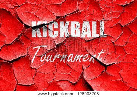 Grunge cracked kickball sign background