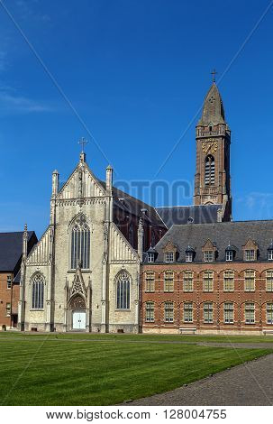 Church of Our Lady of the Abbey of Tongerlo is built in 1851 - 1858 in a neo-gothic style Belgium